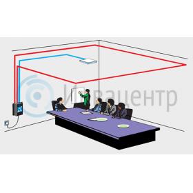 Пример инсталляции информационной индукционной петля для инвалидов по слуху ИС-50Р с потолочным микрофоном