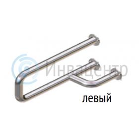 Поручень для раковины настенный боковой ПРНБ Левый, нерж. сталь d-38
