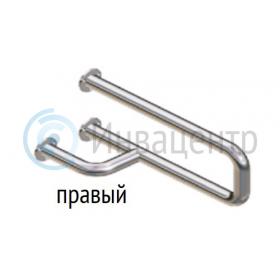 Поручень для раковины настенный боковой ПРНБ Правый, нерж. сталь d-38