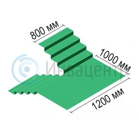 Минимальные размеры лестничного марша для подъемника LG2004 с рампой