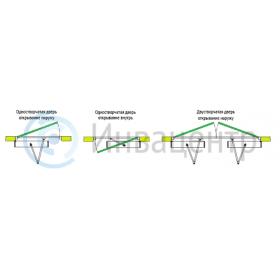 Варианты установки механизма автоматического открывания распашной двери. Механизм DSW-100
