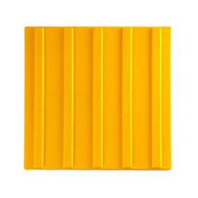 Тактильная плитка ПВХ 300х300 полоса желтая