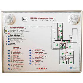 Тактильно-звуковая мнемосхема Ориентир-ИС 610х470 мм с индукционной системой