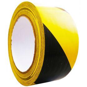 Контрастная сигнальная лента 50мм/33м.  Желто-черная