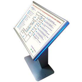 Тактильно-звуковая мнемосхема для помещения 1100х800x550мм. 10068