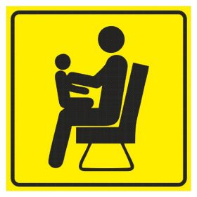 Тактильная пиктограмма СП3 Место для пожилых людей и родителей с детьми 100x100 мм