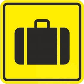 Тактильная пиктограмма Место получения багажа 200x200 мм