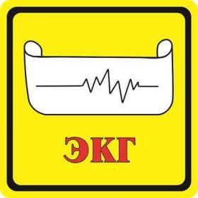 Тактильная пиктограмма ЭКГ 100x100 мм