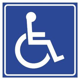 Тактильная пиктограмма G02 Доступность для инвалидов в креслах-колясках 200x200 мм