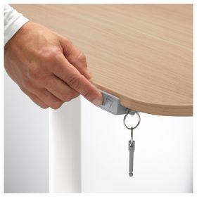 Стол для инвалидов Invastol-ED с электроприводом, дубовый шпон