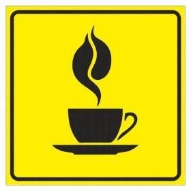 Тактильная пиктограмма Кафе 100x100 мм