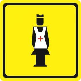 Тактильная пиктограмма Медсестра 100x100 мм