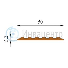 Размеры тактильной ленты ЛТ50