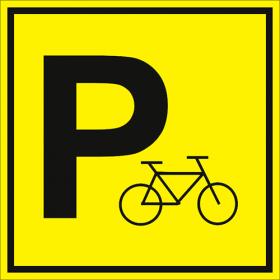 Тактильная пиктограмма Парковка велосипедов 100x100 мм