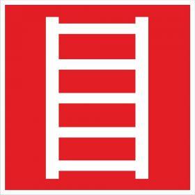 Тактильная пиктограмма Пожарная лестница 100x100 мм