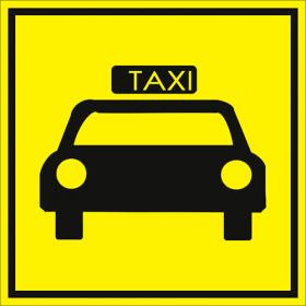 Тактильная пиктограмма Стоянка такси 150x150 мм