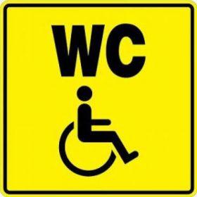 Тактильная пиктограмма СП18 Туалет для инвалидов 100x100 мм