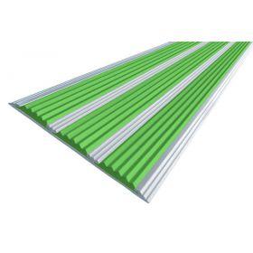 Алюминиевая полоса-порог с тремя ТЭП вставками 100 мм/5,6 мм