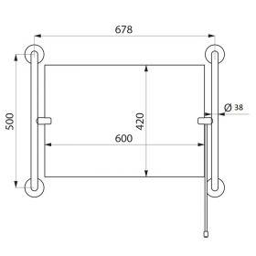 Комплект поручней 311 для зеркала 500 мм