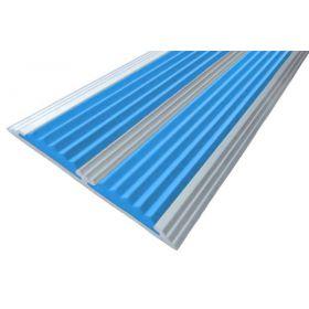Алюминиевая полоса-порог с двумя ТЭП вставками 70 мм/5,5 мм