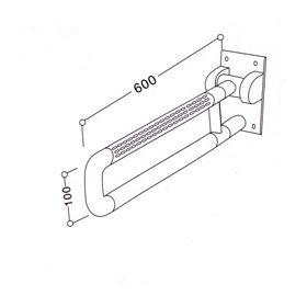 Откидной поручень с пружинным возвратным механизмом 8805-3