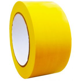 Контрастная сигнальная лента 25мм/33м. Желтая