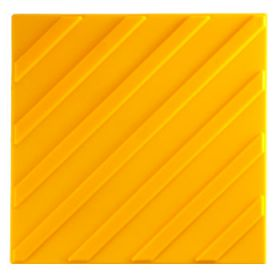 Самоклеящаяся тактильная плитка ПВХ 300х300 диагональ желтая