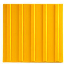 Тактильная плитка полиуретан ТПУ 500x500 мм полоса желтая