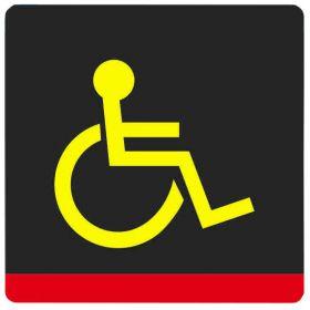 Тактильная пиктограмма G01 Все категории инвалидов специализированная 100x100 мм