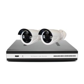 Готовый комплект INV-W2 проводного видеонаблюдения: 2 камеры + ресивер