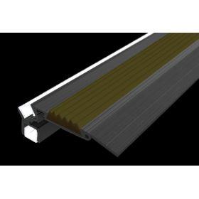 Алюминиевый накладной угол с двойной подсветкой 52 мм