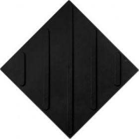 Тактильная плитка ПВХ 500х500 диагональ черная