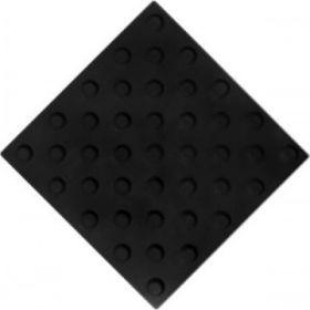Самоклеящаяся тактильная плитка ПВХ 300х300 конус шахматный черная