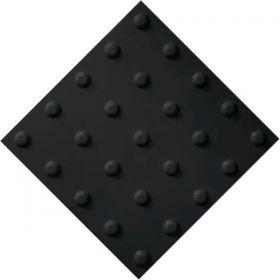 Самоклеящаяся тактильная плитка ПВХ 300х300 конус черная