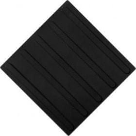 Тактильная плитка полиуретан ТПУ 500x500 мм полоса черная