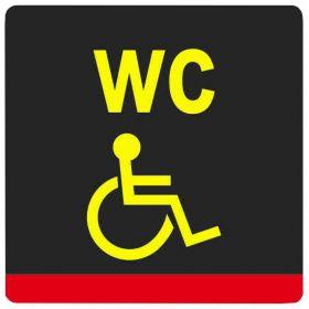 Тактильная пиктограмма Туалет для инвалидов специализированная 200x200 мм