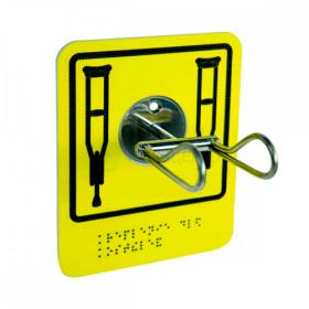 Травмобезопасный крючок-держатель для костылей и одежды. 140мм