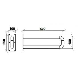 Поручень откидной настенный ПОН 600 мм