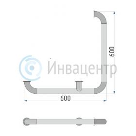 Поручень для внешних углов 600*600 мм