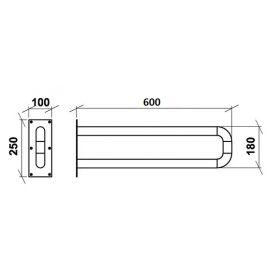 Поручень стационарный неоткидной настенный ПСНН 600 мм