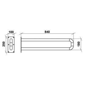 Поручень стационарный неоткидной настенный ПСНН 840 мм