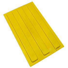 Тактильная плитка полиуретановая 300х180 полоса продольная желтая