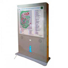 Тактильно-звуковая мнемосхема для парка, открытой территории, вокзала, метро. 10361