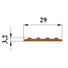 Лента тактильная направляющая ЛТ29 Черная