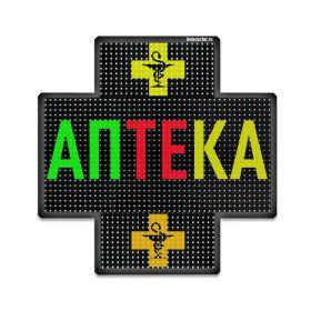 Светодиодный аптечный крест P8 768x768 двухсторонний полноцветный