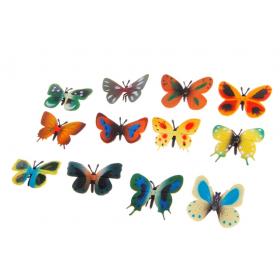 Набор фигурок для песочной терапии Бабочки 12 шт