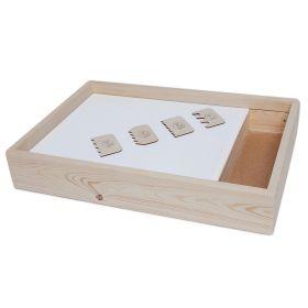 Набор инструментов для песочной анимации 4 штуки (фанера)