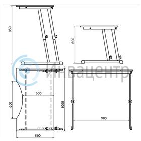 Стол для инвалидов-колясочников Invastol СИ-2