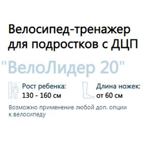 """Велотренажер для подростков с ДЦП ВелоЛидер 20"""""""