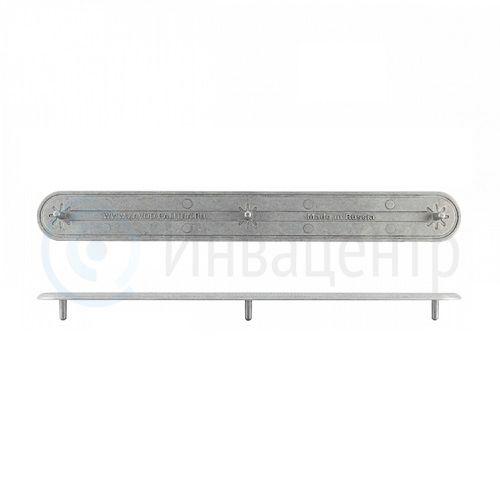 Тактильный индикатор-полоса алюминиевый, насечка 300х4 (AL) I-15. 300x35x19мм. 50279-AL-300x4-15